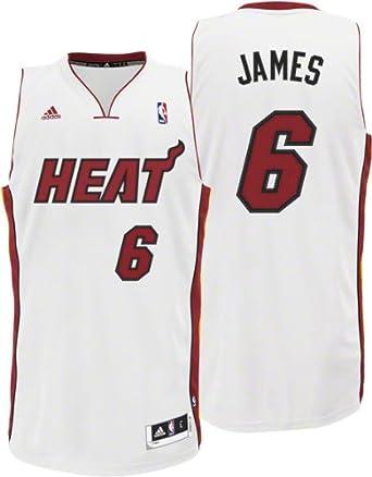 NBA Miami Heat Lebron James Revolution 30 Home Swingman Jersey H Size by adidas