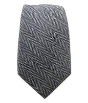 "Gray Wavebone Wool Patterned 3"" Skinny Tie"