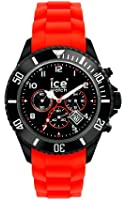 Ice-Watch Chronograph Black and Red Big Silicone Watch CH.BR.B.S.10