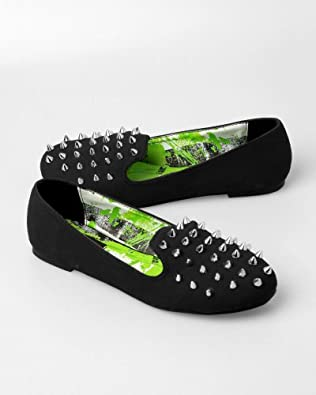 Abbey Dawn By Avril Lavigne Rockstar Spiked Black Loafers (5)
