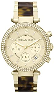 Michael Kors Women's Mk5688 Madison Chronograph gold tone.