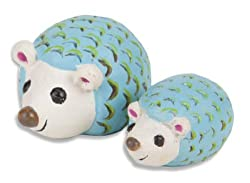 Adorable Hand Painted Momma And Baby Hedgehog Figures For Fairy Gardens, Crafts, And Displays
