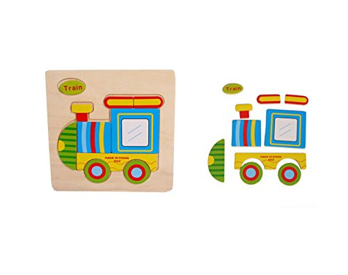 Wooden Puzzle Educational Developmental Baby Kids Training Toy Cute Train