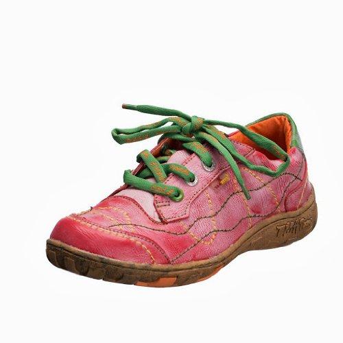 TMA EYES 1366 Schnürer Gr.36-42 mit bequemen perforiertem Fußbett , Leder 39.35 super leichter Schuh der neuen Saison. ATMUNGSAKTIV in Rot Gr. 36
