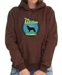 DOG ADDICTION foundland Womens Hoodie