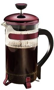 Primula Classic 8-Cup Coffee Press, Metallic Red