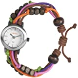 Kahuna Women's Quartz Watch with White Dial Analogue Display and Multicolour Plastic or PU Strap KLF-0013L