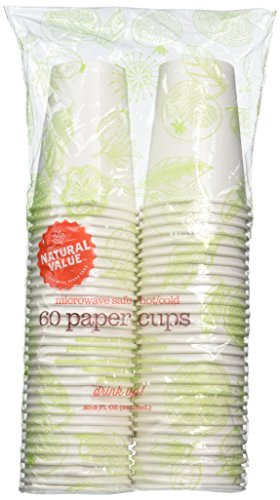 Natural Value Microwave Safe Paper Cups, 60 9-Ounce Cups (Pack of 12) (Microwave Safe Disposable Cups compare prices)