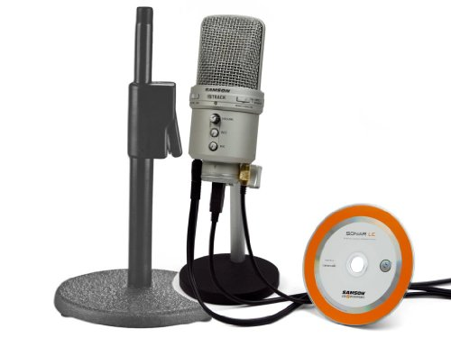 Recording Mic Kit: Samson Gm1U Recording Mic With On Stage Desktop Stand - Ideal For Home Studio Applications