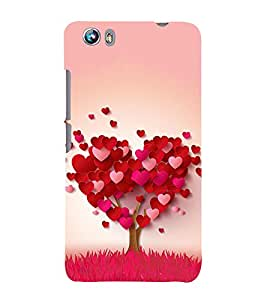 99Sublimation heart tree 3D Hard Polycarbonate Designer Back Case Cover for Micromax Canvas Fire 4 A107