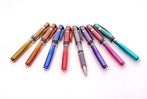 Uni-ball Signo - Set de bolígrafos de punta redonda ancha (8 unidades), colores variados