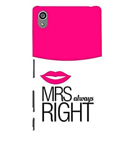 Vizagbeats MRS Right Always Back Case Cover for Sony Xperia Z5 Premium