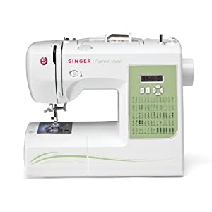 SINGER 7256 Fashion Mate 70-Stitch Computerized Sewing Machine with Six Fully Automatic One-step Buttonholes