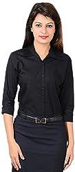 LGC Women's Buttoned Shirt (LGOSBLXXL, Black, XXL)