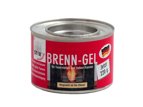 HARK Brenngel fu00fcr Dekofeuer Gelkamin (3,55 EUR/100 g) u00d8 8,5 cm ...