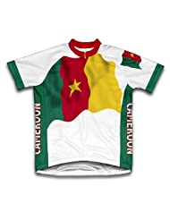 Cameroon Flag Short Sleeve Cycling Jersey for Women