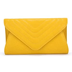Scarleton Large Evening Envelope Clutch H338006 - Yellow
