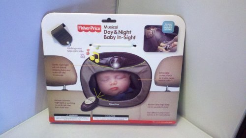 Fisher Price Travel Care Musical Day & Night Baby In-Sight Mirror front-468813
