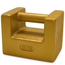 Rice Lake Cast Iron Painted Grip Handle Calibration Weight, NIST Class F, Metric and U.S. Customary