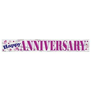 Happy Anniversary12ft Banner by Unique