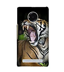 Fiobs Tiger Back Case Cover for YU YUNIC