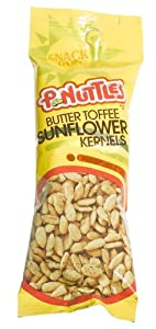 P-Nuttles Butter Toffee Sunflower Snack Run, 1.75-Ounce Bags (Pack of 36)