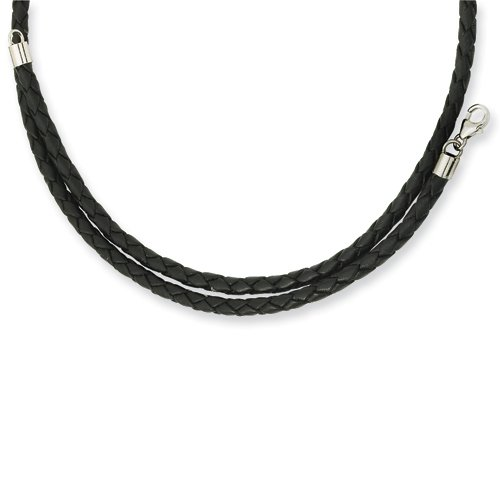 Chisel 3.0mm Genuine Leather Weave Necklace - 20 Inches