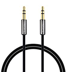 buy Vandesail Aux Cable,3.5Mm Male To Male Audio Cable Stereo Aux Cord With Gold Plated Connectors(Black-3M/9.8Ft)