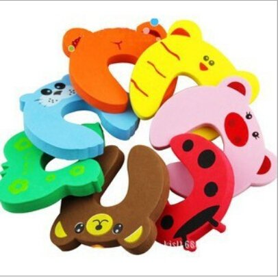 Set of 2pcs Cute Animal Designs Baby Safety Door Jammer Guard Finger Protector Stoppers OFFICE-105
