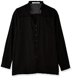 Anaphora Women's Body Blouse Shirt (56541_Black_Large)
