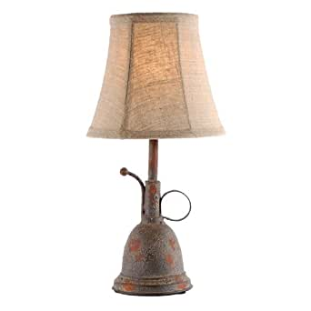 Small Rustic Gardening Accent Table Lamp - - Amazon.com