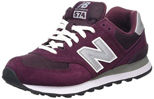 New Balance M_W574, Sneaker Uomo, Multicolore (Red/Grey/White), 45.5