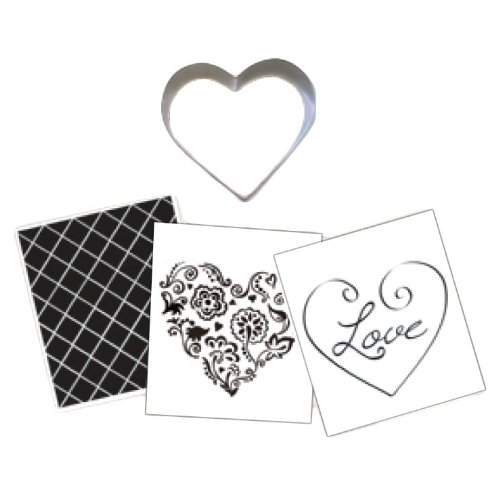 Country Kitchen Heart Cookie Cutter Texture Set (Valentine Cookie Dough compare prices)