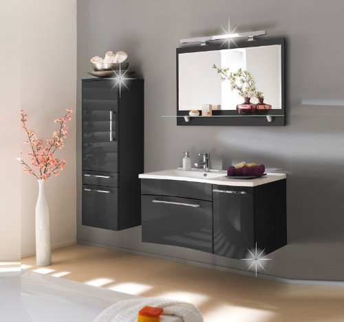 kaufen neu badezimmerm bel set anthrazit hochglanz badezimmerm bel badm bel set bad m bel. Black Bedroom Furniture Sets. Home Design Ideas