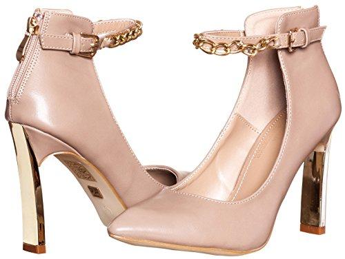 v19.69 Italia Womens Abriana High Heel Pumps Nude Beige Tan Size 9