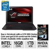 "ASUS ROG GL551JM-DH71 15.6"" Gaming Laptop w/ GeForce GTX860M 2GB GDDR5 and Optimus Technology, 1 TB 7200RPM HDD"