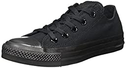 Converse Men's All Star Ox EUR 35 Black Monochrome