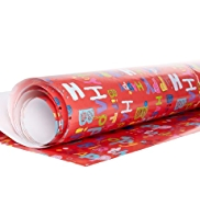 Craft White Birthday Text Roll Wrap