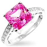 Isady - Isabella Pink - Ladies Ring - 925 Sterling silver - Cubic Zirconia - O