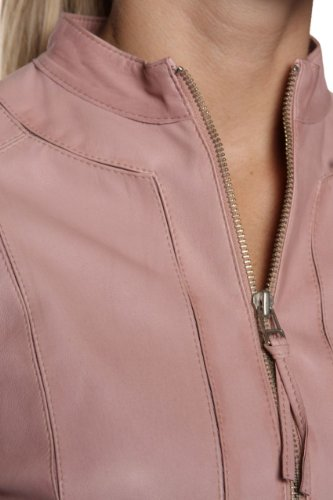 Cristiano di Thiene Leather Jacket GRATIA, Color: Old Rose, Size: 38