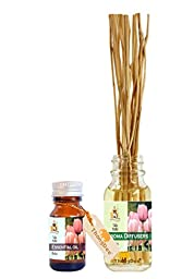 ThongDee Tulip Floral Essential Oil and Reed Diffuser Oil Aromatherapy Set