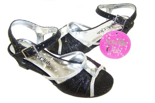 Girls Black and Silver Party Sandal £9.99 plus postage