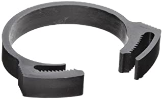 Tefen Acetal Snap Grip Hose Clamp, 23 mm Min Clamp ID, 25 mm Max Clamp ID, Pack Of 10