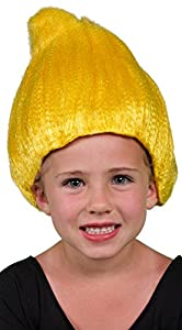 My Costume Wigs Child's Yellow Troll (Yellow) One Size Fits All
