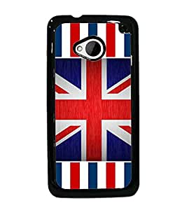 PrintDhaba UK Flag D-3181 Back Case Cover for HTC ONE M7 (Multi-Coloured)
