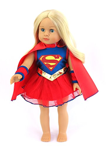 18 Inch Doll Clothes - Super Girl Costume Fits 18