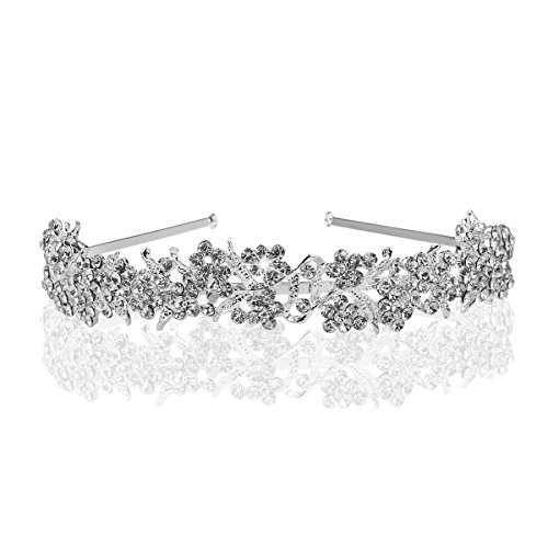 Hairband-Foxnovo Bridal Crowns Headband Crystal Tiaras for Wedding