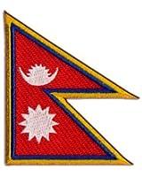 Écusson brodé Flag Patch Népal - 8 x 6 cm