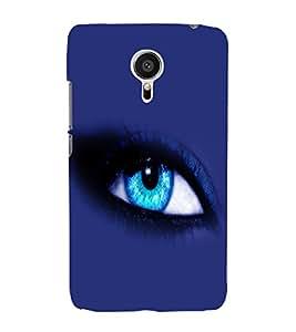 printtech Blue Eye Back Case Cover for Meizu MX5::Meizu Mx 5