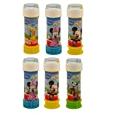6 x Mickey Mouse Clubhouse - Puzzles Maze Tubs Of Bubbles 60ml